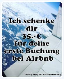 Erhalte 35€ für Airbnb